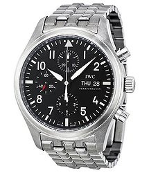 IWC Classic Pilot Chrono Automatic Steel Men's Watch 3717-04
