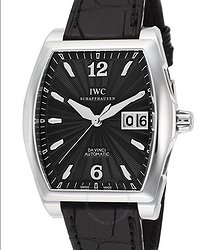 IWC Da Vinci Black Dial Black Leather Men's Watch