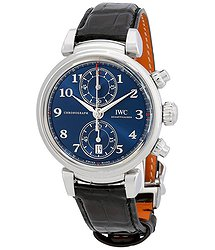 IWC Da Vinci Blue Dial Automatic Men's Chronograph Watch