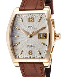 IWC Da Vinci Silver Dial 18kt Rose Gold Brown Leather Men's Watch