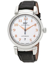 IWC Da Vinci Silver Dial Automatic Men's Leather Watch