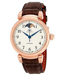 IWC Da Vinci Silver Diall Automatic Unisex Moonphase Watch