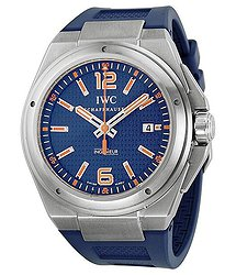 IWC Ingenieur Blue Dial Blue Rubber Automatic Men's Watch