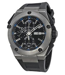 IWC Ingenieur Chronograph Black Dial Black Rubber Men's Watch