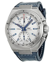 IWC Ingenieur Chronograph Racer Silver Dial Rubber Strap Men's Watch