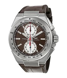 IWC Ingenieur Chronograph Silberpfeil Brown Dial Leather Strap Automatic Men's Watch