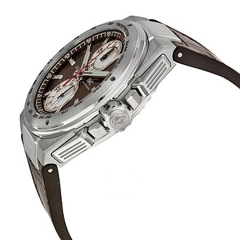 Купить часы IWC Ingenieur Chronograph Silberpfeil Brown Dial Leather Strap Automatic Men's Watch  в ломбарде швейцарских часов