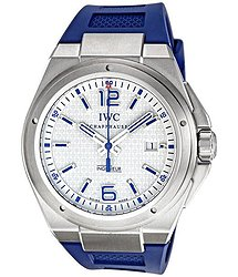 IWC Ingenieur Mission Earth White Dial Blue Rubber Strap Automatic Men's Watch