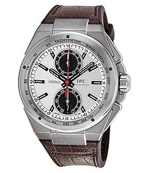 IWC Ingenieur Silver Dial Leather Strap Automatic Men's Chrono Watch