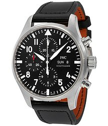 IWC IWC Pilot Black Automatic Chronograph Men's Watch