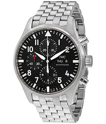 IWC Pilot Automatic Chronograph Black Dial Men's Watch
