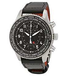IWC Pilot Black Dial Automatic Men's GMT Watch