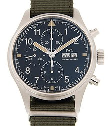 IWC Pilot Chronograph Automatic Black Dial Men's Watch