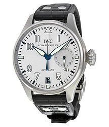 IWC Pilot Father Automatic Silver Dial Black Leather Men's Watch 5009-06