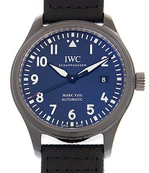 IWC Pilot Mark XVIII Laureus Automatic Blue Dial Men's Watch
