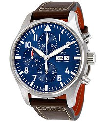 IWC Pilot Midnight Automatic Chronograph Blue Dial Men's Watch