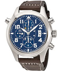 IWC Pilot Midnight Blue Dial Double Chronograph Automatic Men's Watch