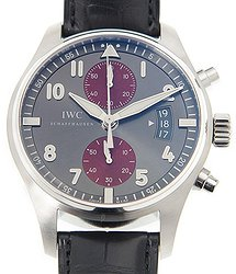IWC Pilot Spitfire Silver Dial Chronograph Dial Automatic Men's Watch