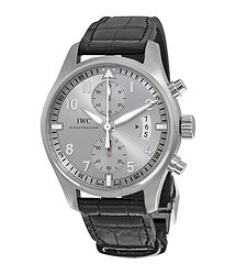 IWC Pilot Spitfire Silver Dial Chronograph Men's Watch