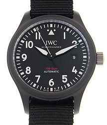 IWC Pilot Top Gun Automatic Black Dial Men's Watch