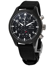 IWC Pilot Top Gun Chronograph Automatic Black Dial Men's Watch