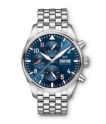 IWC Pilots Watch Chronograph Edition Le Petit Prince  Blue Dial Automatic Self Wind IW377717 Mens WATCH