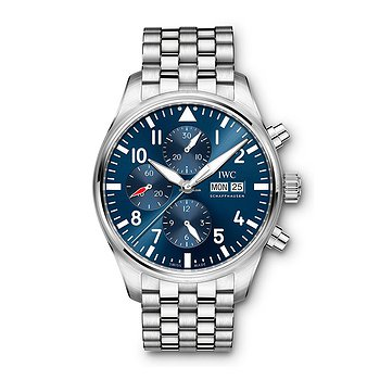 Купить часы IWC Pilots Watch Chronograph Edition Le Petit Prince  Blue Dial Automatic Self Wind IW377717 Mens WATCH  в ломбарде швейцарских часов