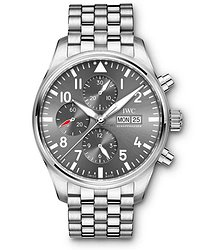 IWC Pilots Watch Chronograph Spitfire  Slate Dial Automatic Self Wind IW377719 Mens WATCH