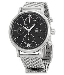 IWC Portfonio Chronograph Automatic Black Dial Men's Watch