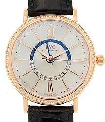 IWC Portofino 18kt Rose Gold & Diamonds White Automatic IW459102