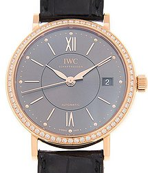 IWC Portofino Anthracite Dial Diamond Automatic Men's Watch 4581-08