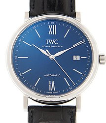 "IWC Portofino Automatic ""150 Years"" Blue Dial Men's Watch"
