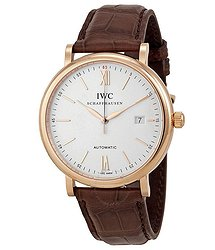 IWC Portofino Automatic Silver Dial 18kt Rose Gold Men's Watch 3565-04