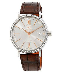IWC Portofino Automatic Silver Dial Diamond Ladies Watch 4581-03