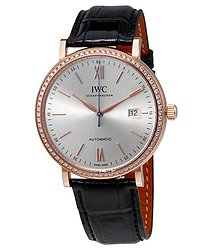 IWC Portofino Automatic Silver Dial Diamond Men's Watch 3565-15
