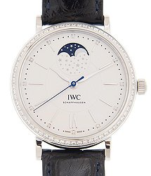 IWC Portofino Automatic Silver Diamond Dial Men's Watch