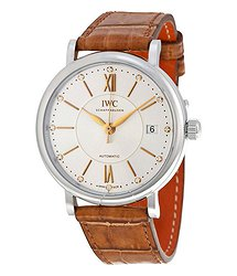 IWC Portofino Automatic Silver Diamond Dial Unisex Watch