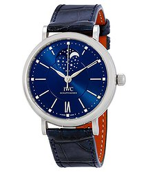 IWC Portofino Blue Dial Automatic Ladies Watch