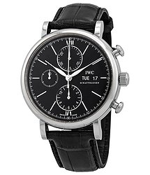 IWC Portofino Chronograph Automatic Black Dial Men's Watch