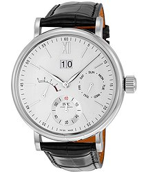 IWC Portofino Day Date Silver-Plated Dial 8 Day Power Reserve Men's Watch