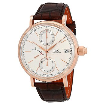 Купить часы IWC Portofino Monopusher Silver-Plated Dial Chronograph 18K Rose Gold Men's Watch  в ломбарде швейцарских часов