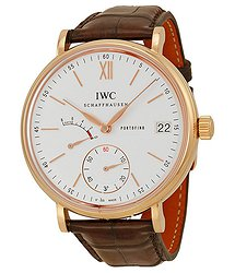 IWC Portofino Silver Dial Brown Leather Strap Men's Watch