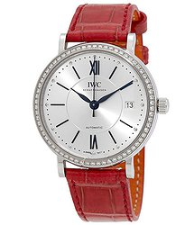 IWC Portofino Silver Dial Diamond Automatic Ladies Watch 4581-09