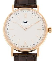 IWC Portofino Silver-Plated Dial 18K Rose Gold Men's Watch