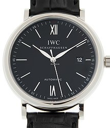IWC Portofino Stainless Steel Black Automatic IW356502