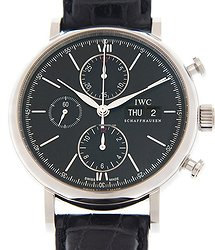 IWC Portofino Stainless Steel Black Automatic Iw391029 (IW391008)