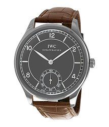 IWC Portugese Vintage Blue Dial Brown Leather Men's Watch