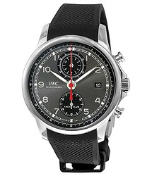IWC Portugieser Yacht Club Automatic Anthracite Dial Black Rubber Men's Watch 3905-03