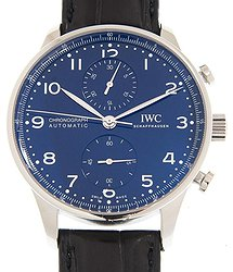 "IWC Portuguese ""150 Years Chronograph Automatic Blue Dial Men's Watch"