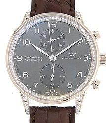 IWC Portuguese 18kt White Gold & Diamond Dark Grey Automatic IW371474